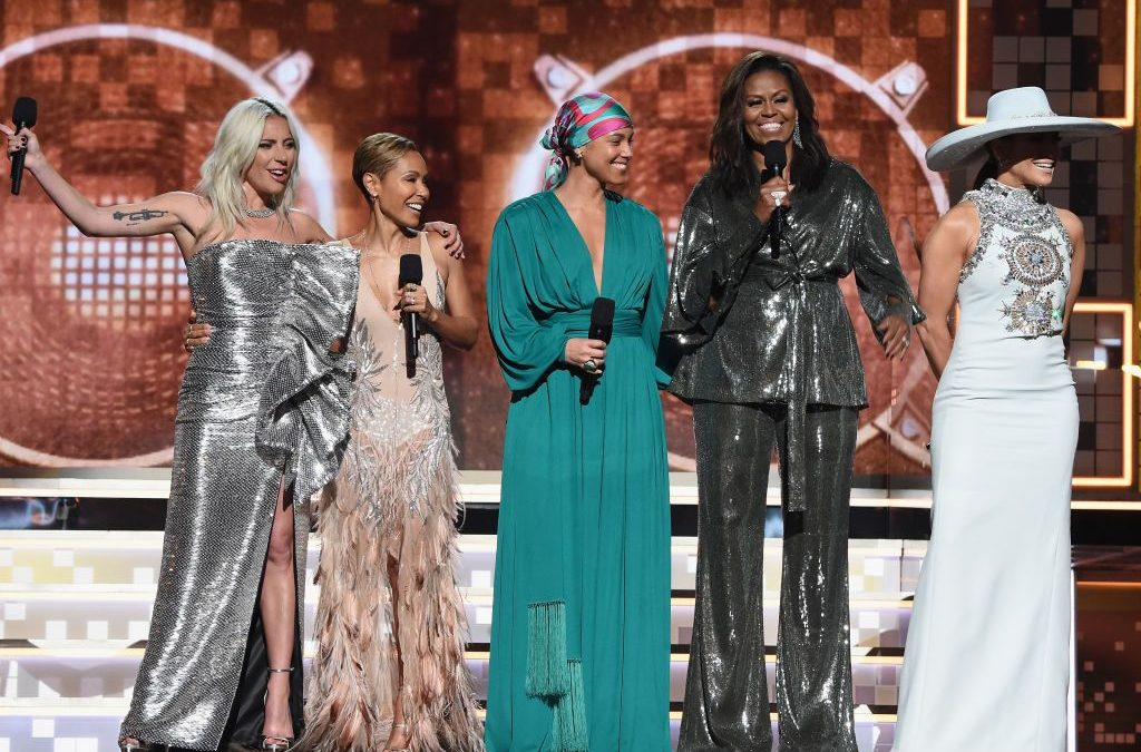 Michelle Obama Stuns & Steals The Show With Surprise Appearance At 2019 Grammys [Photos]
